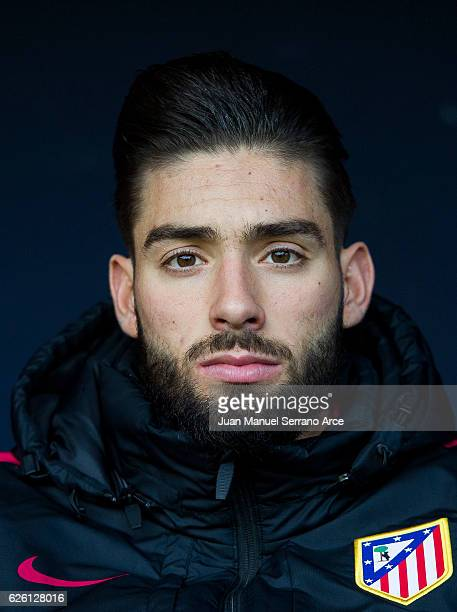 Yannick FerreiraCarrasco of Atletico Madrid looks on prior to the start the La Liga match between CA Osasuna and Atletico Madrid at Estadio Reyno de...