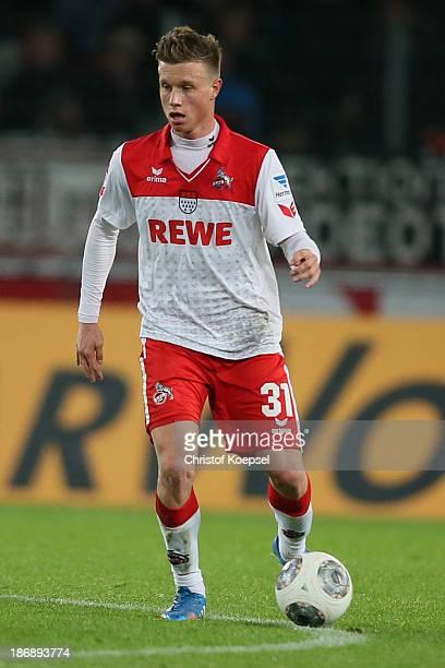 Yannick Gerhardt of Koeln runs with the ball during the Second Bundesliga match between 1 FC Koeln and 1 FC Union Berlin at RheinEnergieStadion on...