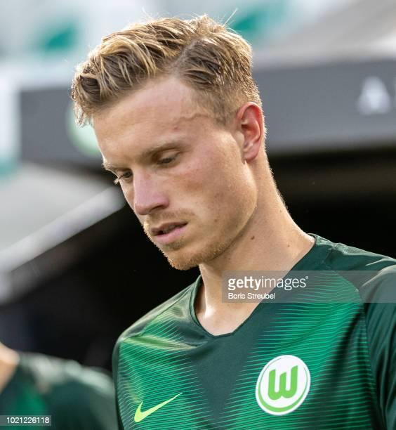 Yannick Gerhardt of VfL Wolfsburg looks on prior to the Pre Season friendly match between VfL Wolfsburg and SSC Napoli at Volkswagen Arena on August...