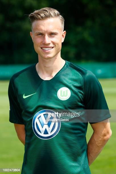 Yannick Gerhardt of VfL Wolfsburg poses during the team presentation at VfL Center on July 20, 2018 in Wolfsburg, Germany.