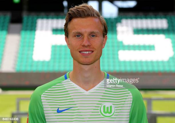 Yannick Gerhardt of VfL Wolfsburg poses during the team presentation at on September 13 2017 in Wolfsburg Germany