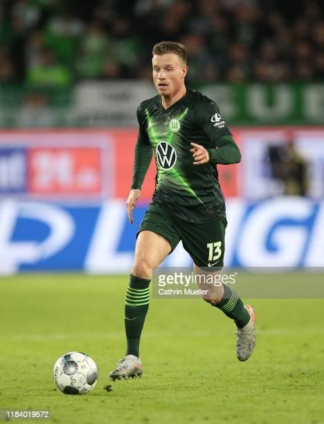 Yannick Gerhardt of VfL Wolfsburg runs with the ball during the Bundesliga match between VfL Wolfsburg and FC Augsburg at Volkswagen Arena on October...