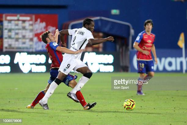 Yannick Mamilonne of Paris FC during the Ligue 2 match between Gazelec Ajaccio and Paris FC at Stade Ange Casanova on July 27 2018 in Ajaccio France