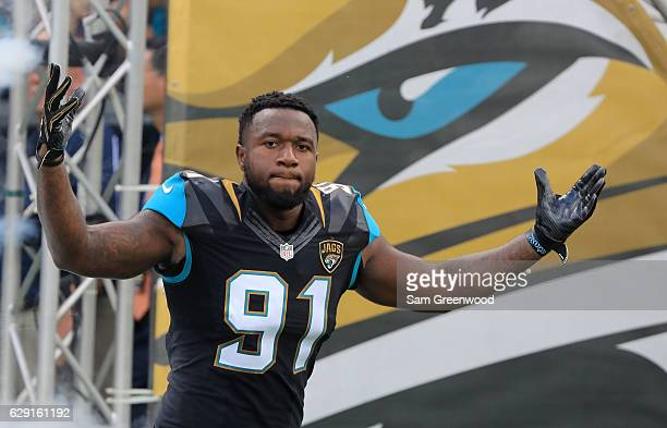 Yannick Ngakoue of the Jacksonville Jaguars before the game against the Minnesota Vikings at EverBank Field on December 11 2016 in Jacksonville...
