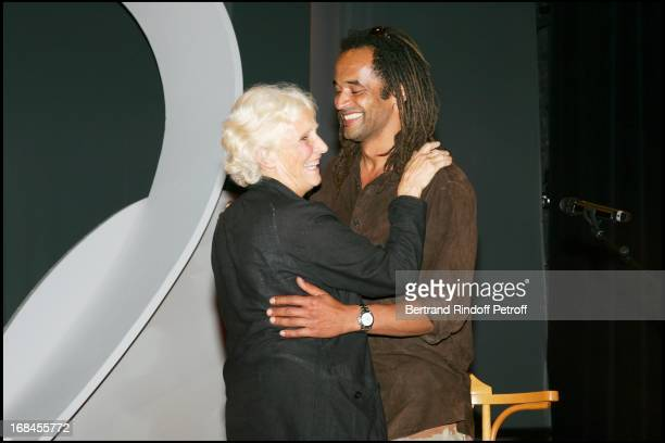 Yannick Noah and his mother Marie Claire at Clarins Invites You To Celebrate The 10 Years Of The Woman's Energising Award.