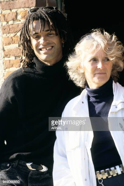 Yannick Noah and his mother Marie-Claire.