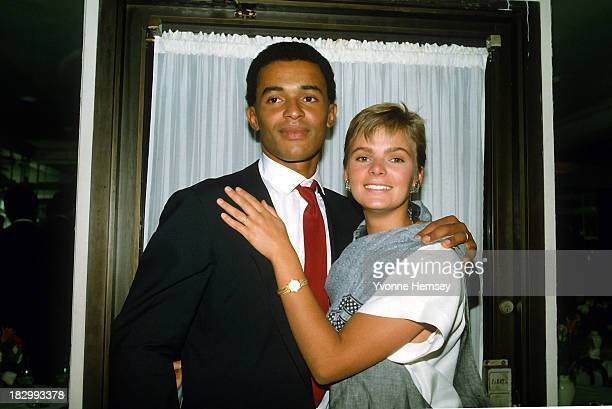 Yannick Noah and his wife Cecilia Rodhe are photographed February 22 1984 in New York City