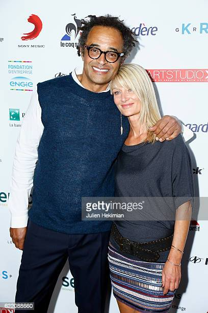 "Yannick Noah and his wife Isabelle Camus attend ""Fete le Mur"" Celebration 20th Anniversary At Chalet des Iles In Paris on November 9, 2016 in Paris,..."
