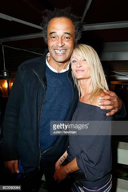 Yannick Noah and his wife Isabelle Camus attend Fete le Mur Celebration 20th Anniversary At Chalet des Iles In Paris on November 9 2016 in Paris...