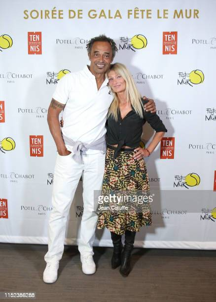 Yannick Noah and his wife Isabelle Camus attend the gala for 'Fete le mur' an association founded by Yannick Noah to promote tennis in the projects...