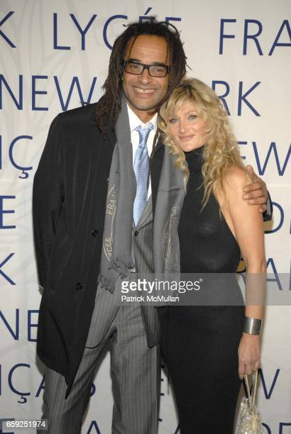 Yannick Noah and Isabelle Camus attend LYCEE FRANCAIS DE NEW YORK Celebrates its 10th Gala at 7 World Trade Center on February 6 2009 in New York City