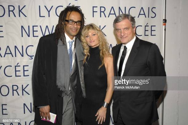 Yannick Noah Isabelle Camus and Sidney Toledano attend LYCEE FRANCAIS DE NEW YORK Celebrates its 10th Gala at 7 World Trade Center on February 6 2009...