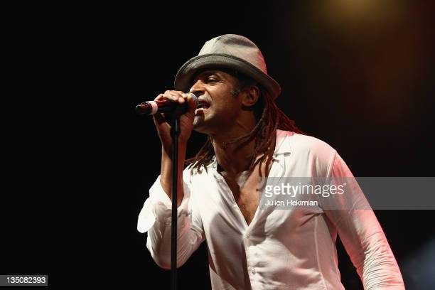 Yannick Noah performs during the 30th Anniversary of Francois Mitterrand Election Concert at Place de la Bastille on May 10, 2011 in Paris, France.