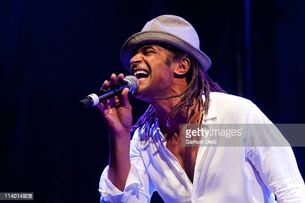 Yannick Noah performs live at Place Bastille for the 30th Anniversary of Francois Mitterrand Election Concert Celebration on May 10 2011 in Paris...