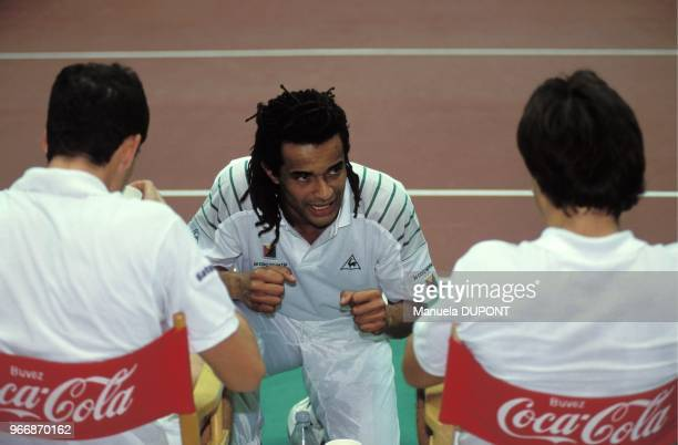 Yannick Noah with Guy Forget Henri Leconte