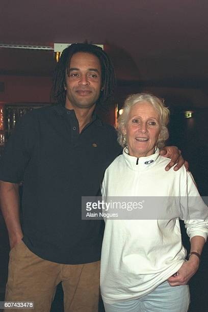 Yannick Noah with his mother Marie-Claire.
