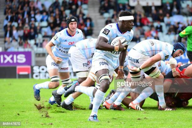 Yannick Nyanga of Racing 92 during the Top 14 match between Racing 92 and Oyonnax at on September 17 2017 in Colombes France