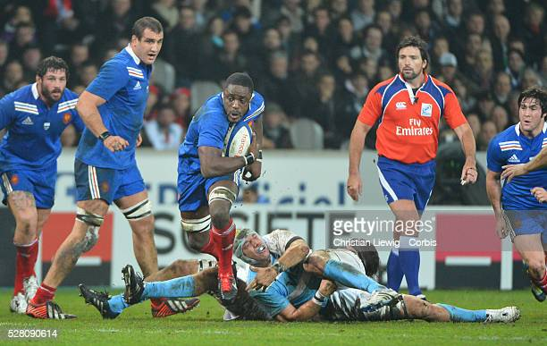 FRANCE Yannick Nyanga Villeneuved'Ascq France's during the rugby union test match France vs Argentina at Lille Grand Stade on November 17 2012 in...