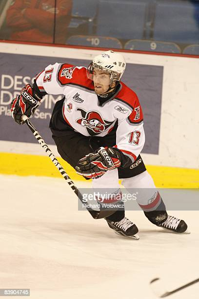 Yannick Riendeau of the Drummondville Voltigeurs skates during the game against the StJohn Seadogs at the Centre Marcel Dionne on November 28 2008 in...