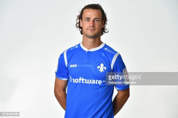 Yannick Stark of SV Darmstadt 98 poses during the team presentation at MerckStadion am Boellenfalltor on July 20 2017 in Darmstadt Germany