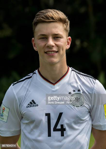 Yannik Keitel of Germany pose ahead of the FIFA U17 World Cup India 2017 tournament at Park Hyatt Goa Resort on October 5 2017 in Goa India