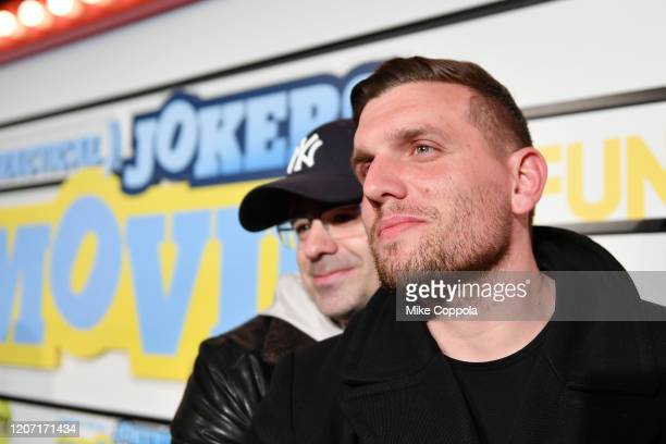 Yannis Pappas and Chris Distefano attend the Impractical Jokers The Movie Premiere Screening and Party on February 18 2020 in New York City 739100