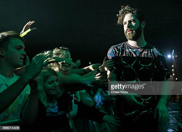 Yannis Philippakis of Foals performs at Day 1 of Reading Festival at Richfield Avenue on August 26 2016 in Reading England