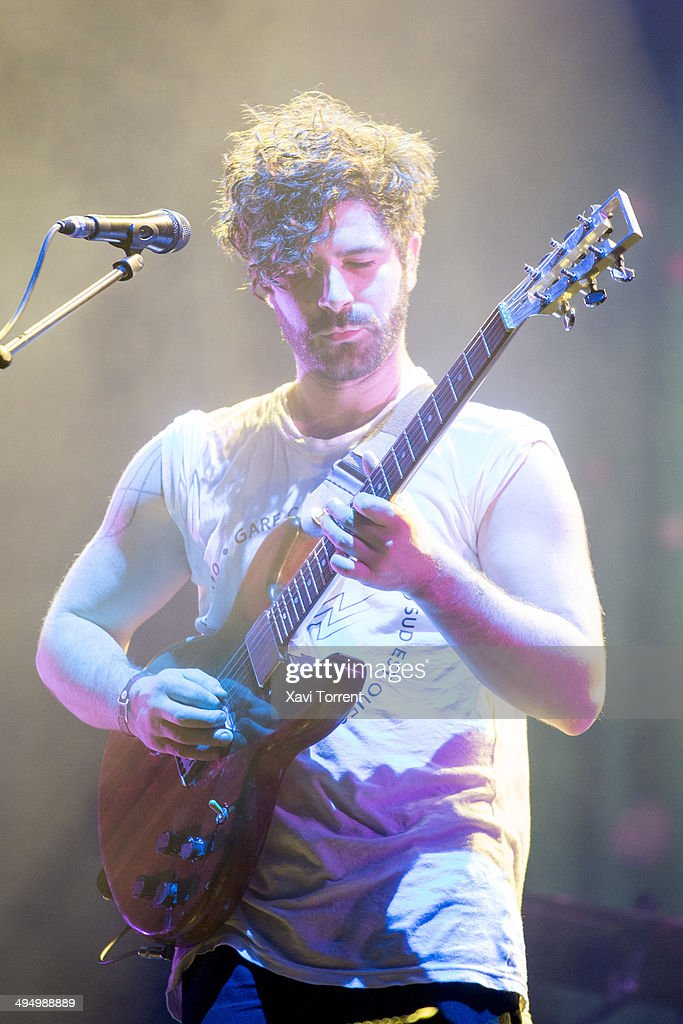 Yannis Philippakis of Foals performs on stage on last day of Primavera Sound 2014 on May 31, 2014 in Barcelona, Spain.