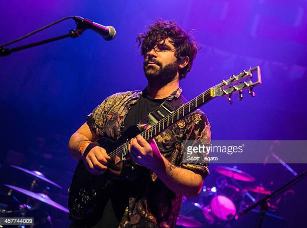 Yannis Philippakis of the band Foals performs during The Night 89X Stole Xmas at The Fillmore on December 17, 2013 in Detroit, Michigan.