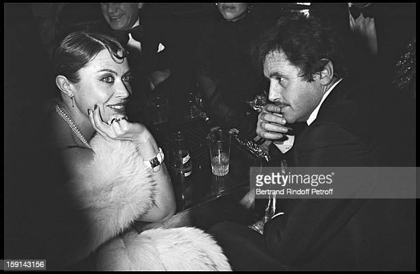 Yanou Collard and Victor Lanoux attend birthday party of Michel Sardou at Elysse Matignon night club in 1978
