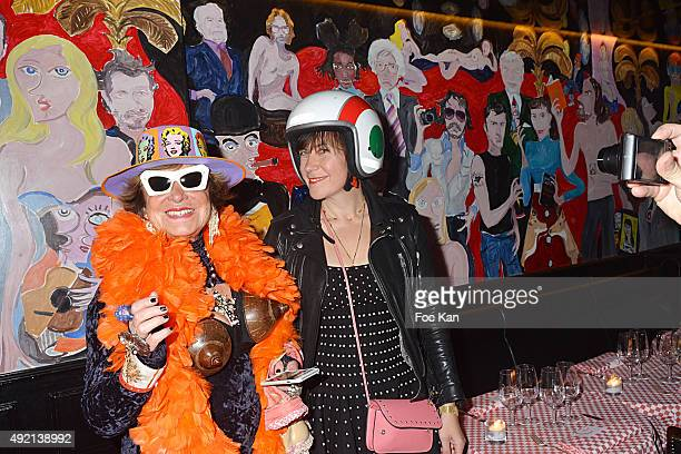 Yanou Collart and Natacha Polaert attend the 'Le Caca's Club' Book Launch Cocktail at Librairie Assouline on October 9 2015 in Paris France