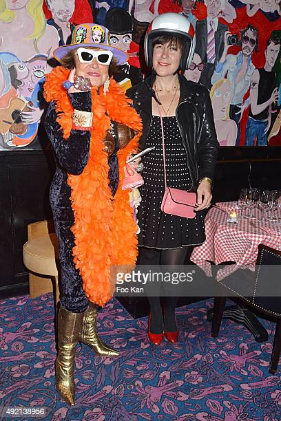 Yanou Collart and Natacha Polaerti attend the 'Le Caca's Club' Book Launch Cocktail at Librairie Assouline on October 9 2015 in Paris France