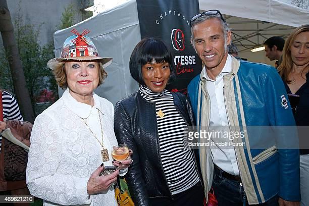 Yanou Collart, Angela Basset and Paul Belmondo attend Museum Paul Belmondo celebrates its 5th Anniversary on April 13, 2015 in Boulogne-Billancourt,...