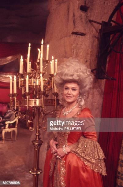 Yanou Collart sur le tournage du film 'Liberté Égalité Choucroute' réalisé par Jean Yanne en septembre 1984 France