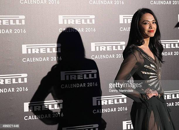 Yao Chen attends a gala evening to celebrate the Pirelli calendar 2016 by Annie Leibovitz at The Roundhouse on November 30 2015 in London England