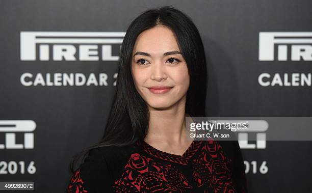 Yao Chen attends a Photocall to launch the 2016 Pirelli Calendar by Annie Leibovitz at Grosvenor House on November 30 2015 in London England