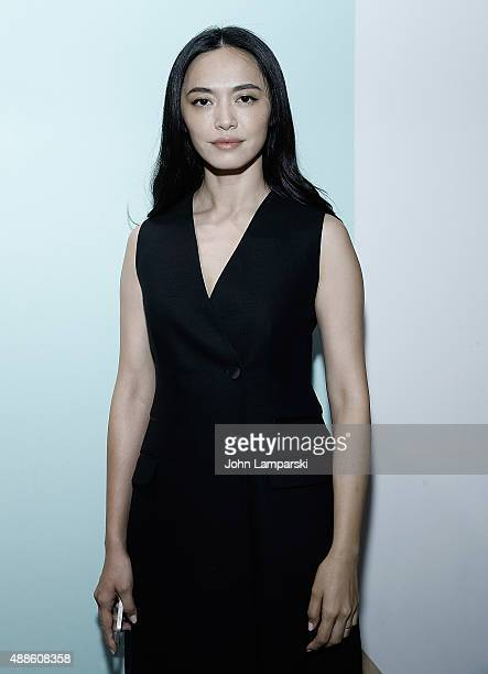 Yao Chen attends the Boss Womenswear show during Spring 2016 New York Fashion Week The Shows on September 16 2015 in New York City