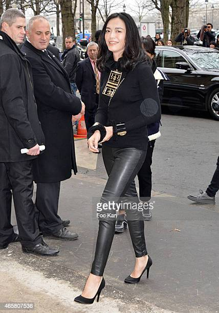 Yao Chen attends the Chanel show as part of the Paris Fashion Week Womenswear Fall/Winter 2015/2016 on March 10 2015 in Paris France