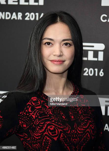 Yao Chen Photocall to launch the 2016 Pirelli Calendar by Annie Leibovitz at Grosvenor House on November 30 2015 in London England