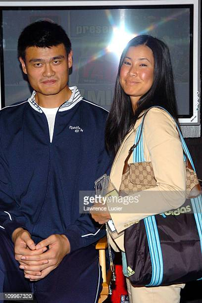 Yao Ming and Lisa Ling during Yao Ming Signs His New Book Yao A Life in Two Worlds at NBA Store in New York City New York United States