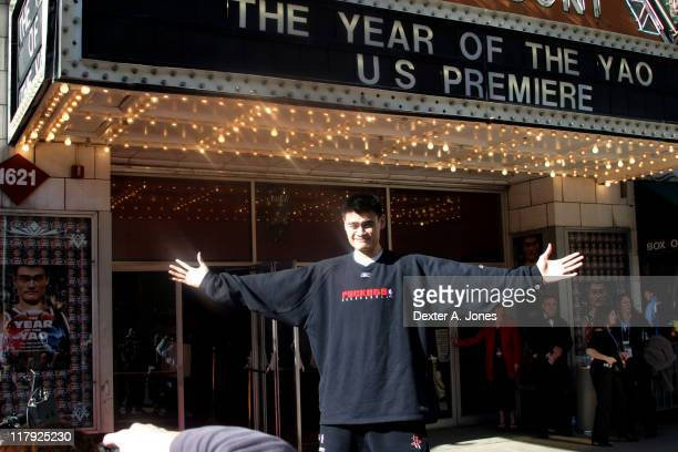Yao Ming during The Year of The Yao US Movie Premiere at Paramont Theater in Denver Colorado United States