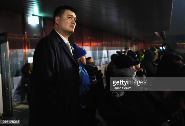 Yao Ming of China looks on during the Opening Ceremony of the PyeongChang 2018 Winter Olympic Games at PyeongChang Olympic Stadium on February 9 2018...
