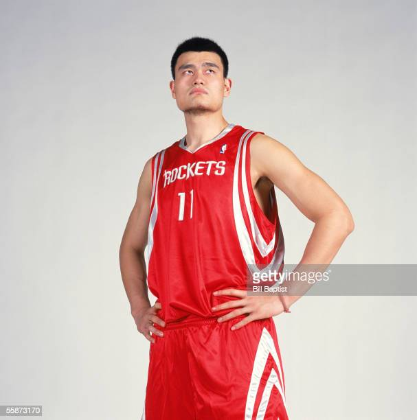 Yao Ming of the Houston Rockets poses for a portrait during NBA Media Day at Toyota Center on October 3 2005 in Houston Texas NOTE TO USER User...