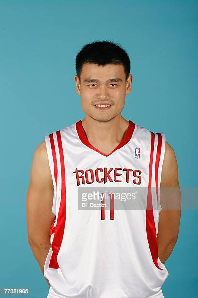 Yao Ming of the Houston Rockets poses for a portrait during NBA Media Day on October 10 2007 at the Toyota Center in Houston Texas NOTE TO USER User...
