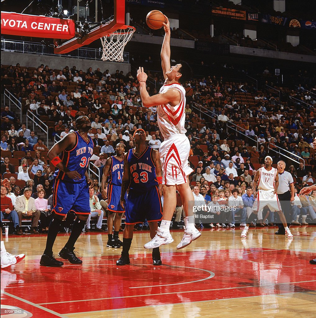 Houston Rockets News Today: Yao Ming Of The Houston Rockets Shoots In The Key During