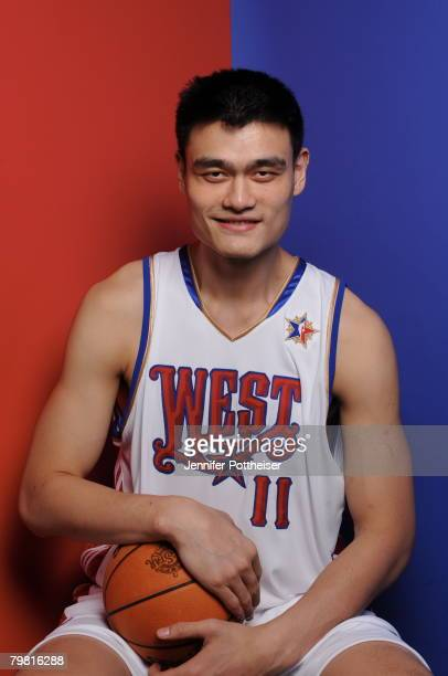 Yao Ming of the Western Conference AllStars poses for a portrait during the 2008 AllStar Game on February 17 2008 at the New Orleans Arena in New...