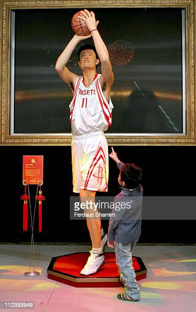 Yao Ming waxwork during Madame Tussauds Celebrates the Chinese New Year at Madame Tussauds in London Great Britain