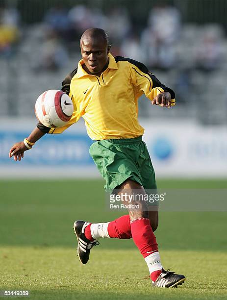 Yao Senaya of Togo in action during the International friendly match between Morocco and Togo at the Stade Diochon on August 17 in Rouen France