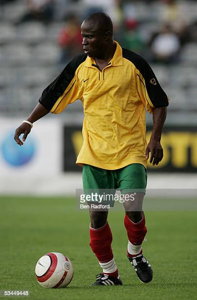 Yao Senayax of Togo in action during the International friendly match between Morocco and Togo at the Stade Diochon on August 17 in Rouen France