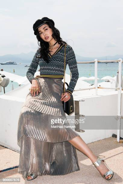 Yao Xingtong poses during the 71st annual Cannes Film Festival at on May 9 2018 in Cannes France